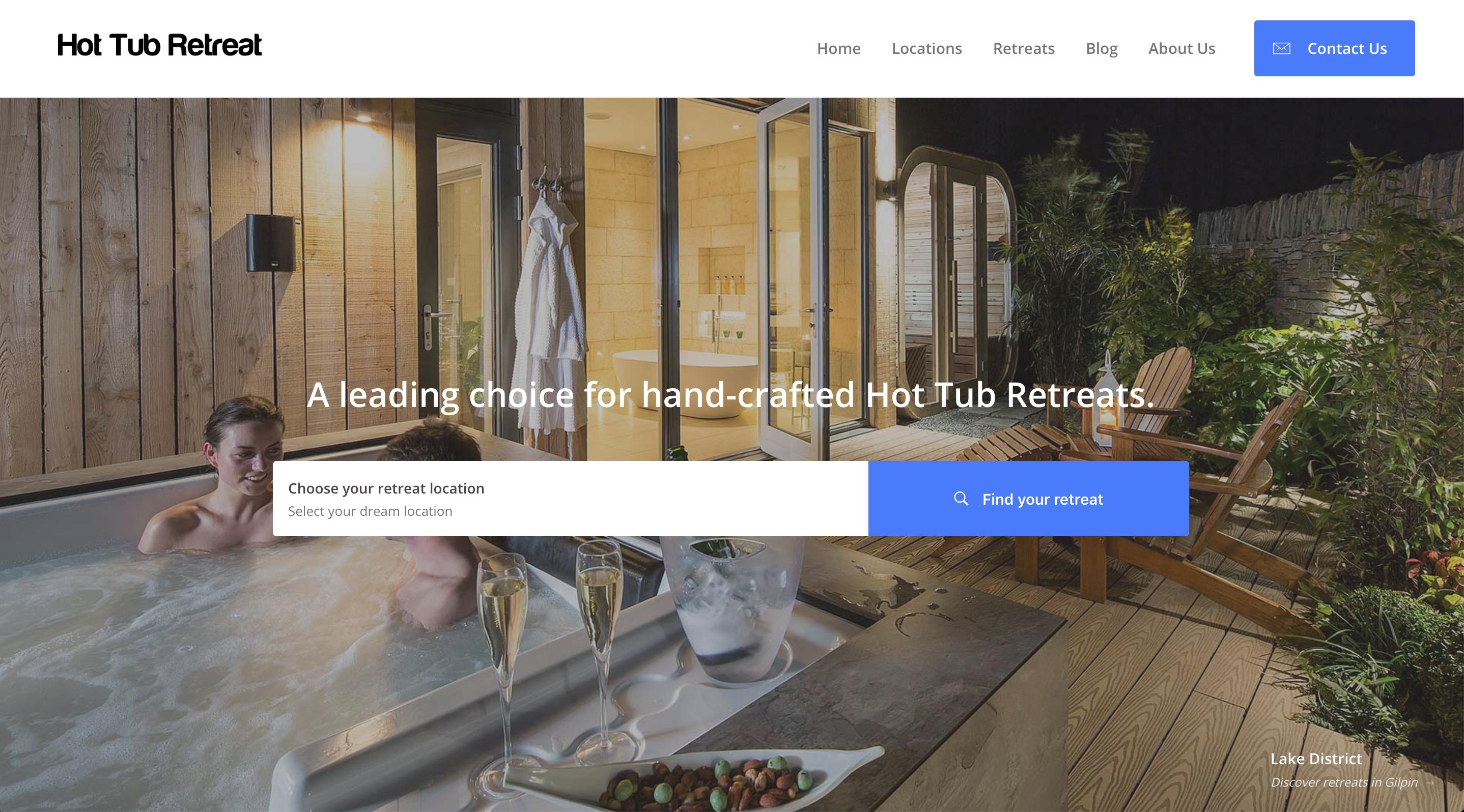 Hot Tub Retreat - New Look Website